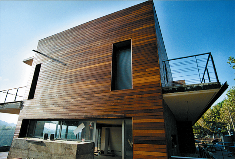Wood Cladding Elevation : Gevelbekleding exterpark tablazz interieur en exterieur