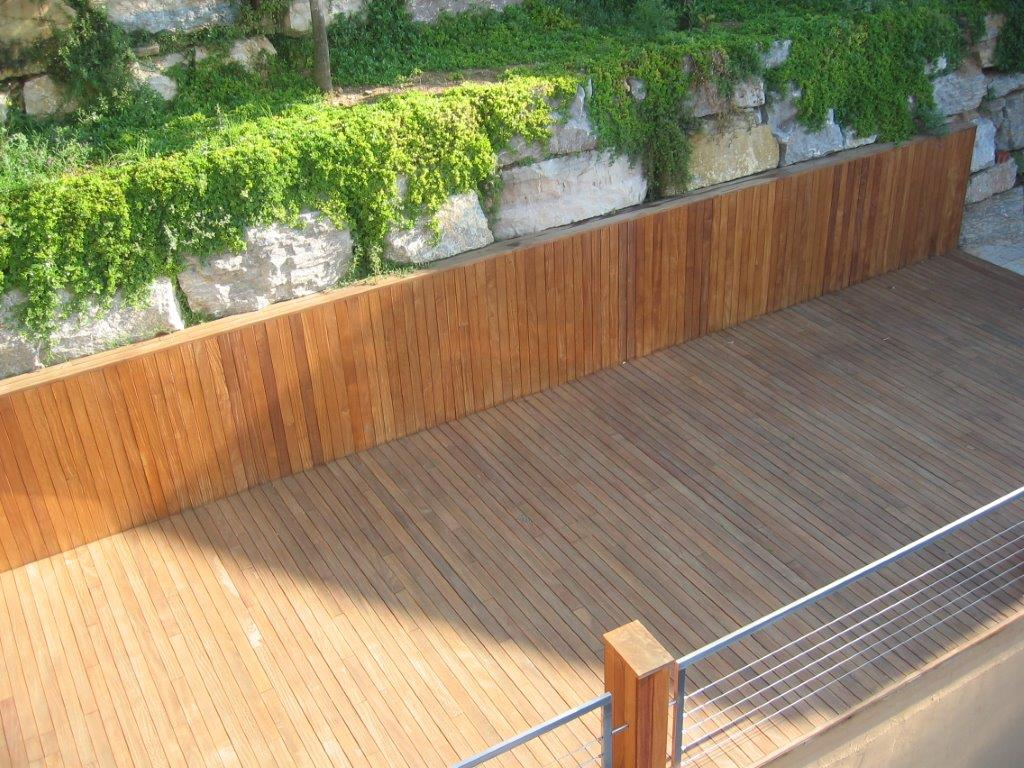 Gevelbekleding exterpark tablazz interieur en exterieur parket - Interieur gevelbekleding houten ...