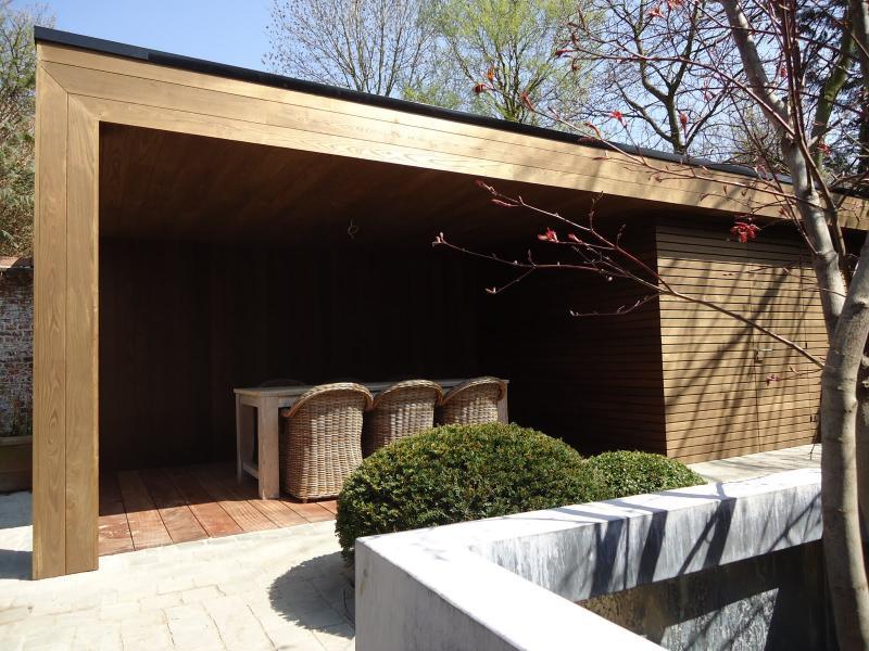 Gevelbekleding thermo hout tablazz interieur en exterieur parket - Lounge warme kleur ...