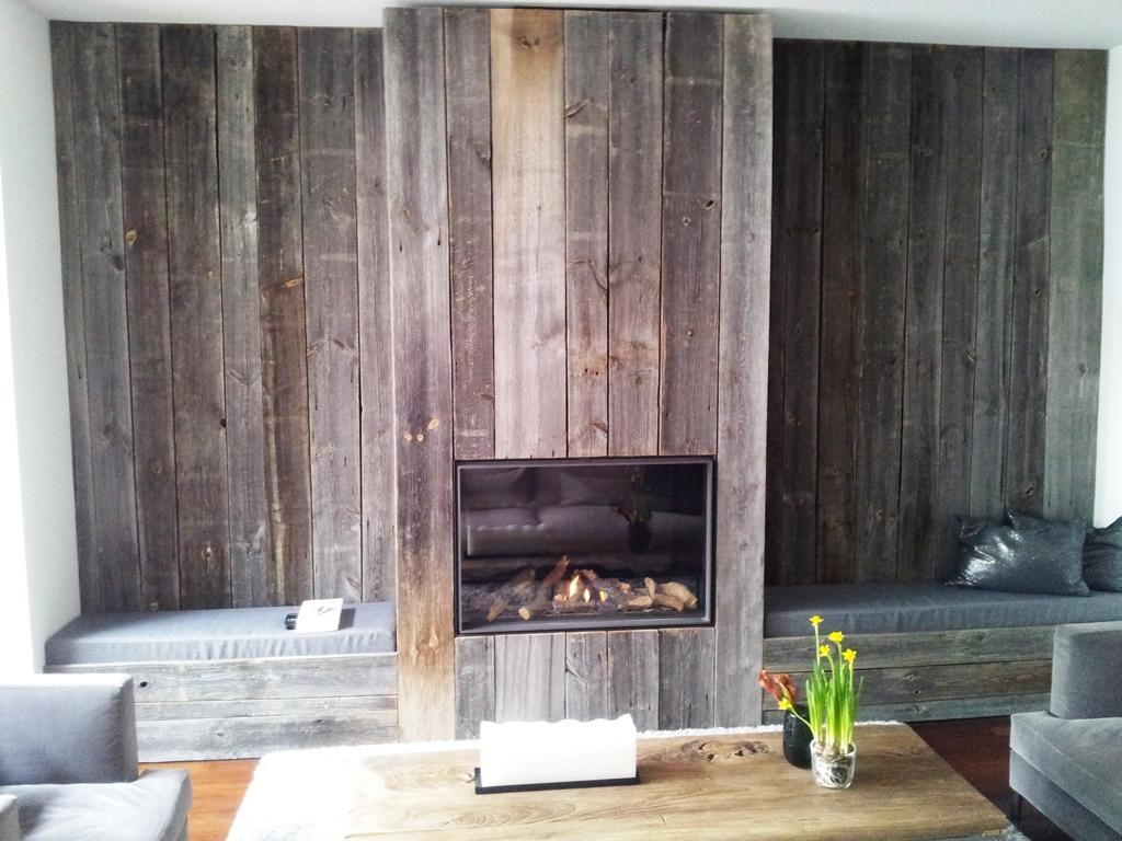 Gevelbekleding barnwood tablazz interieur en exterieur parket - Interieur gevelbekleding houten ...