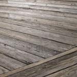 Parketvloer oud hout verweerd